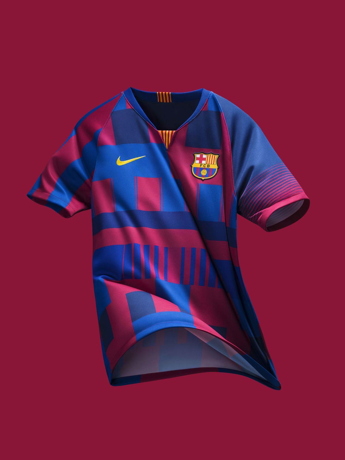 Barcelona Nike mashup kit