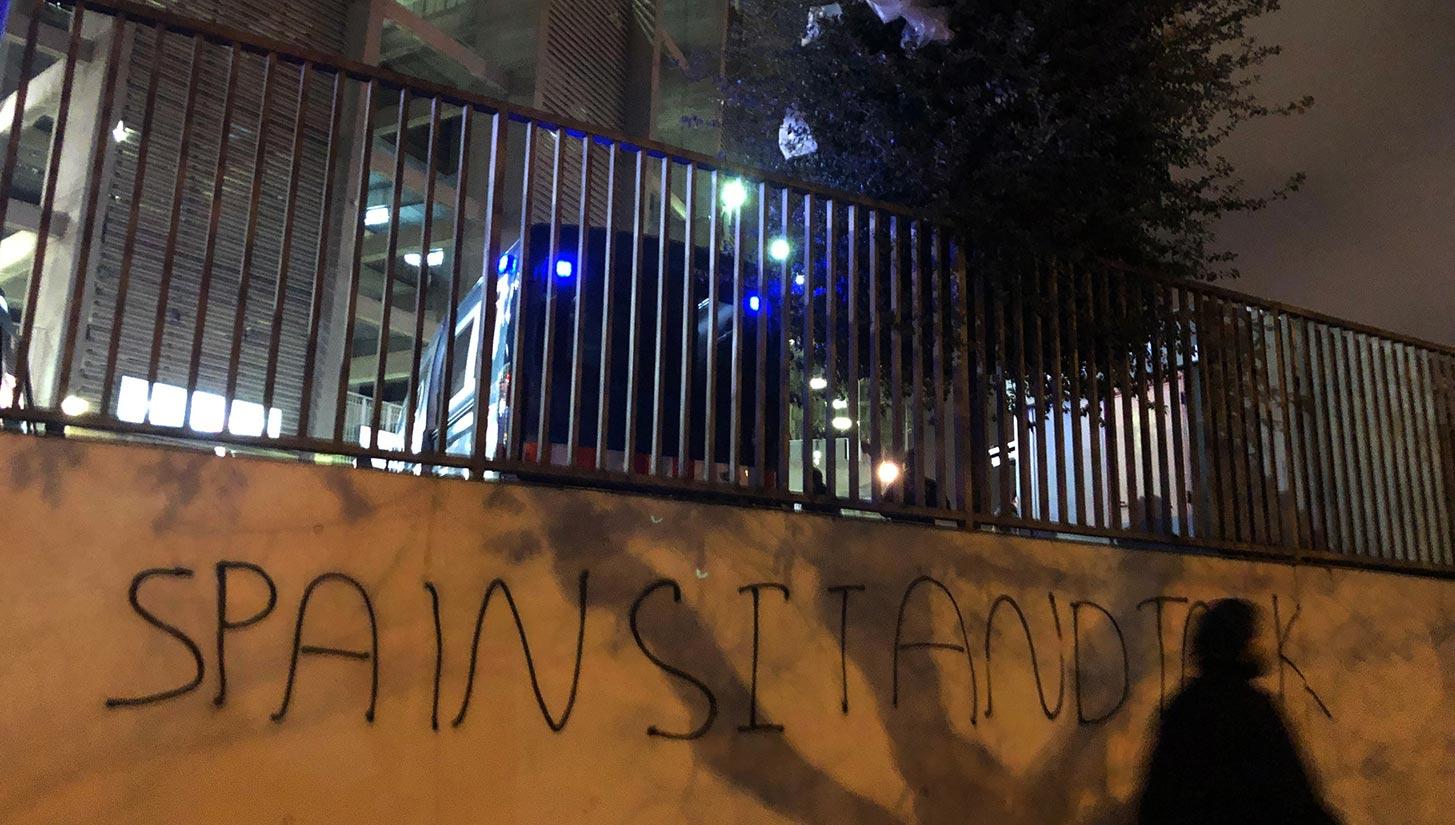 camp nou protests